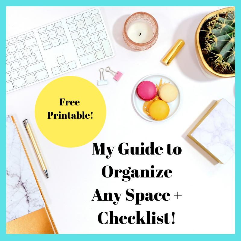 Subscribe for a free home office organization printable