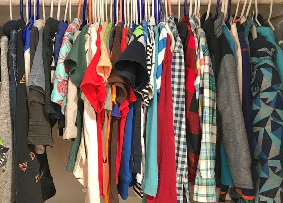 5 Back to School Organizing Projects- organized closet