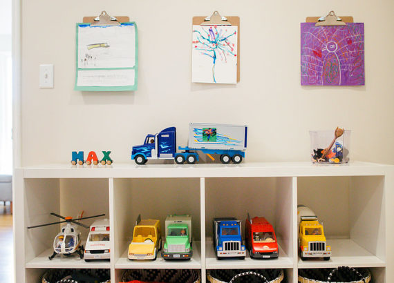 5 Back to School Organizing Projects-organizing kids art work and toys