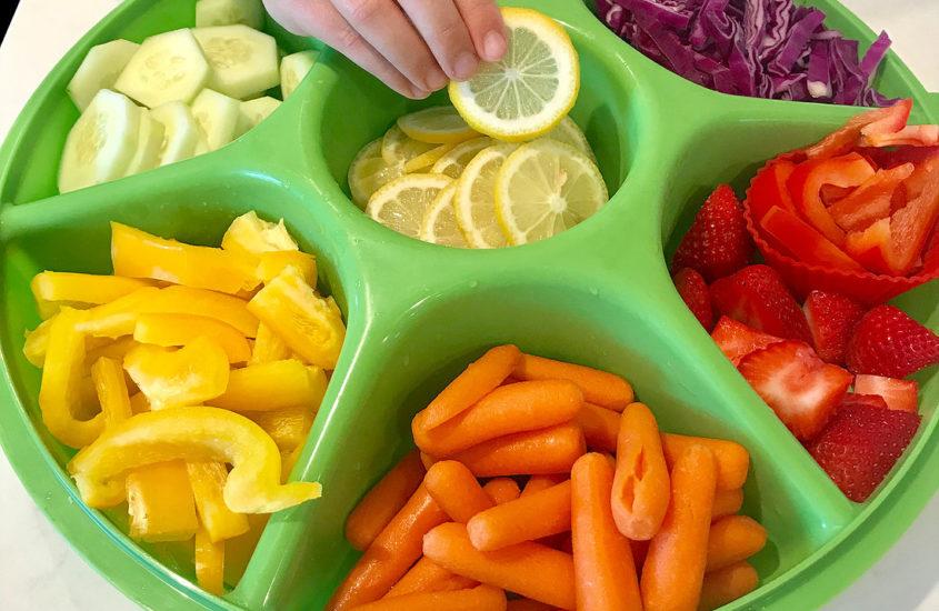 snack organization tray