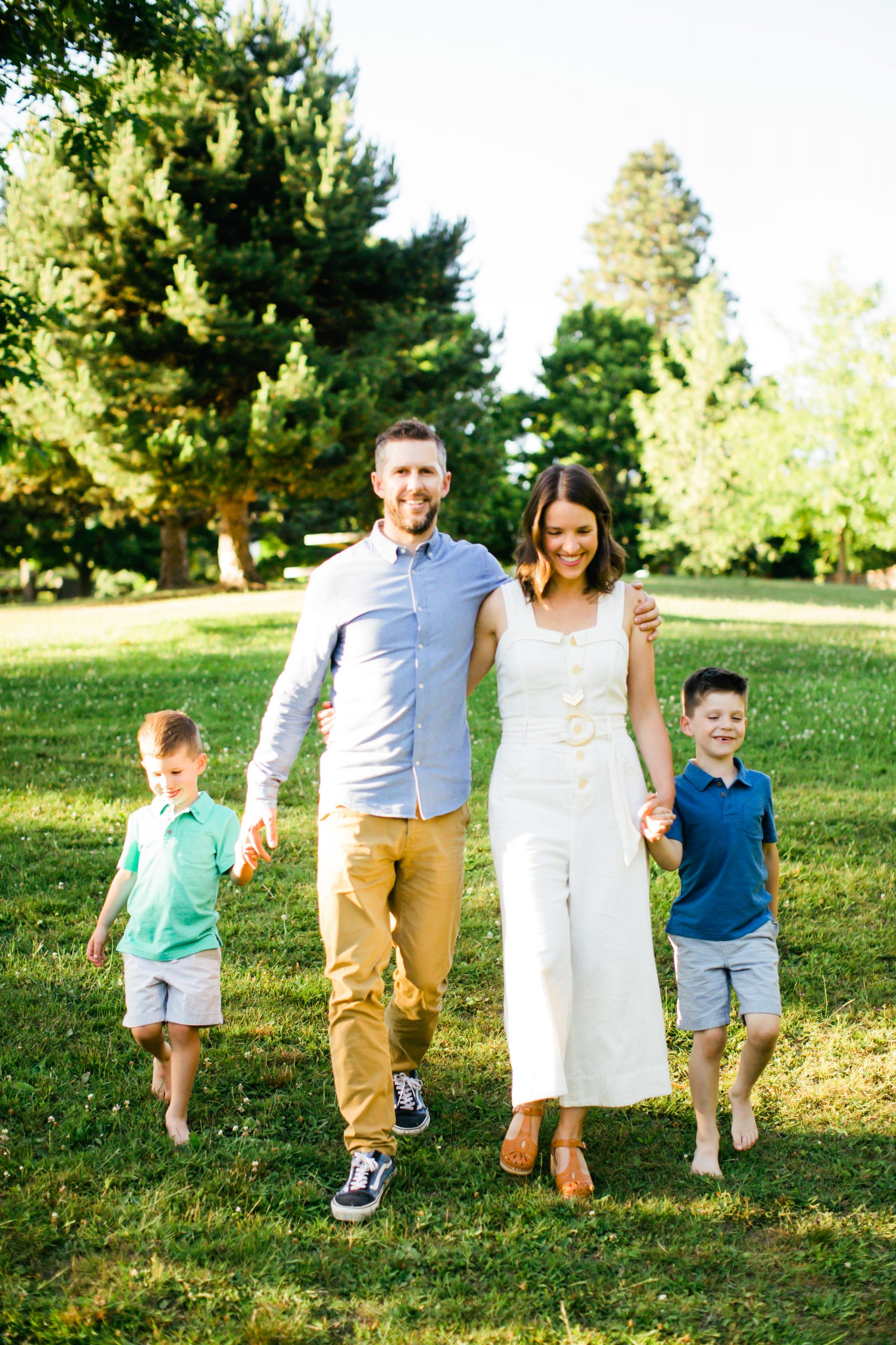 Seattle home organizer, Lauren Fink Shea, with her family