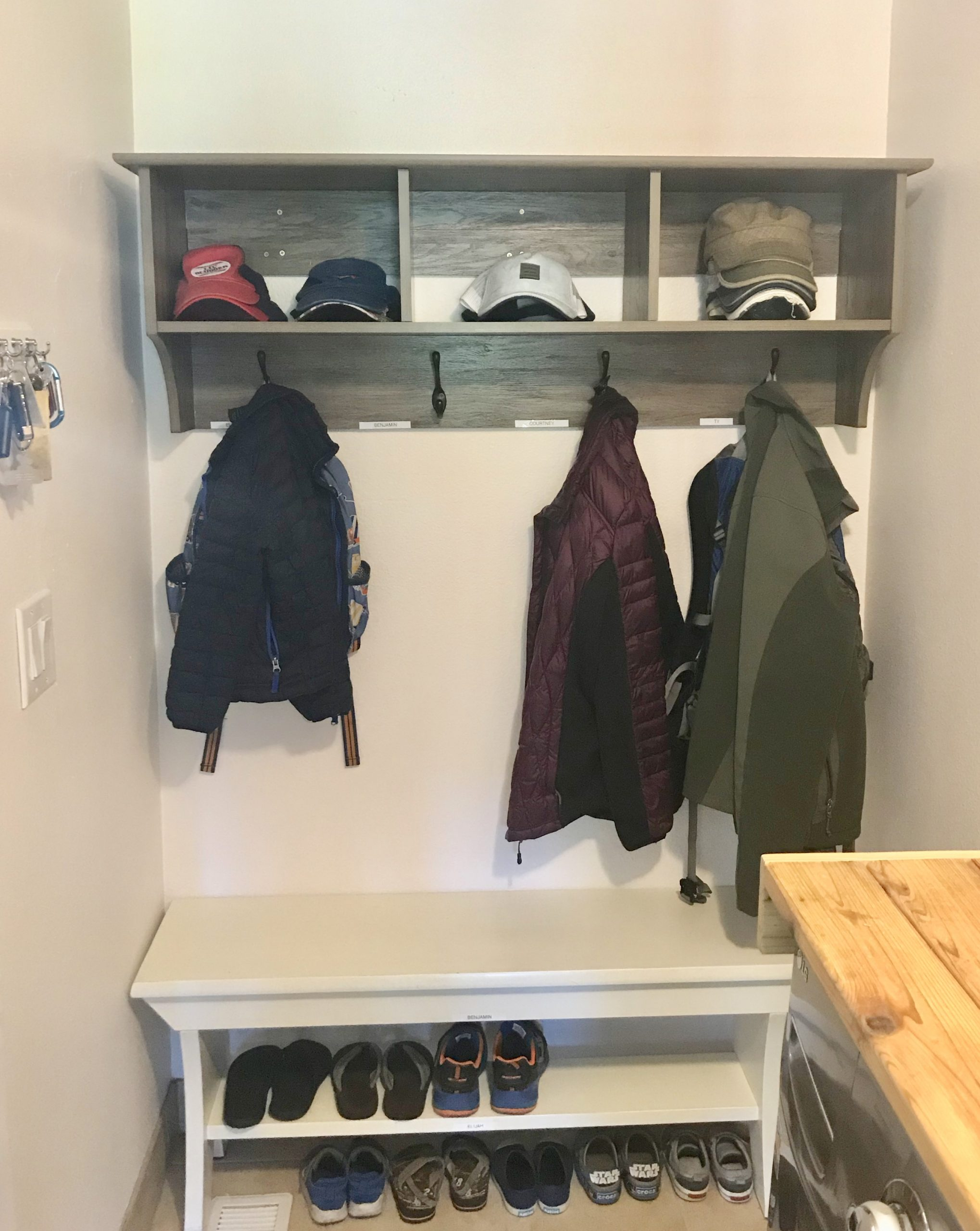mudroom shelving