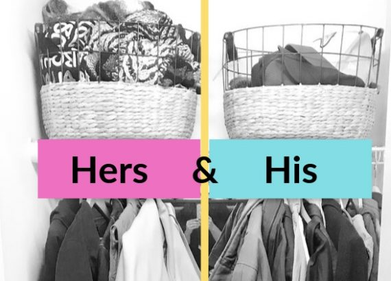 his and hers coat closet