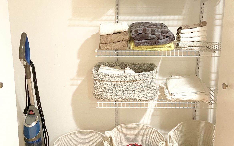 How to Organize a Linen + Laundry Closet