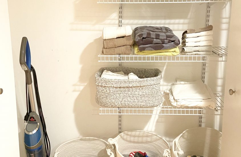 How to Organize a Linen + Laundry Closet