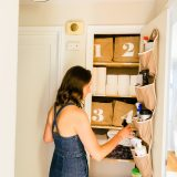organize a household supply closet and make spring cleaning easier