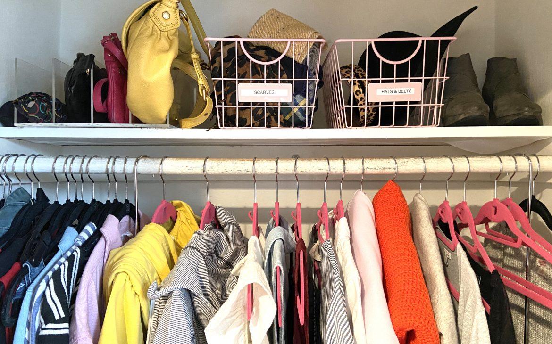 Organize your wardrobe to feel good