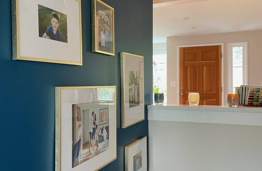 Hitting a wall? Organize it with a wall gallery!