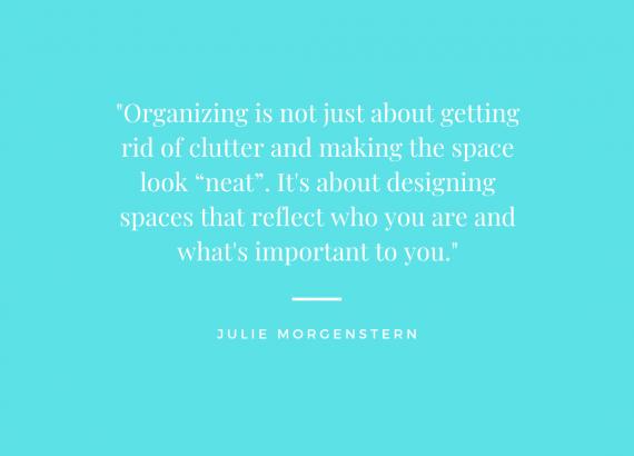 favorite organizing quote