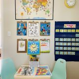 Organize a remote learning space at home
